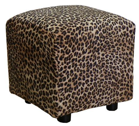 cheetah ottoman leopard cube ottoman by piedmont pfi lr295ottoleopard
