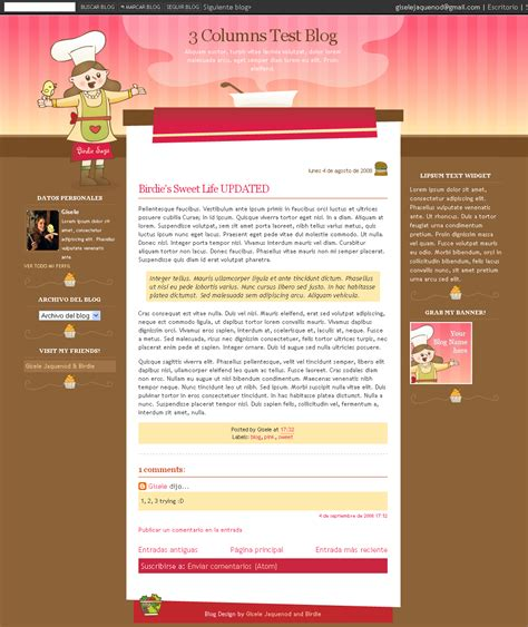 Free Blogging Templates free templates for and plantillas