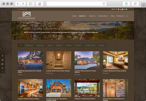 carolina custom home builder website design