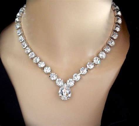 crystals for jewelry 25 best ideas about swarovski necklace on