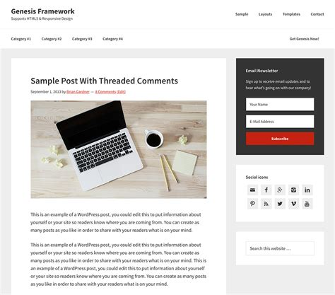 Genesis Framework Templates Genesis Framework Themesparadise
