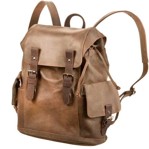 Backpack Retro vintage retro rucksack 241603 leder braun