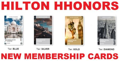Hilton Gift Card - hilton hhonors introduces new membership cards loyaltylobby