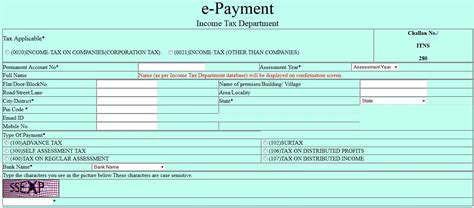 excel format of challan 280 paying income tax challan 280