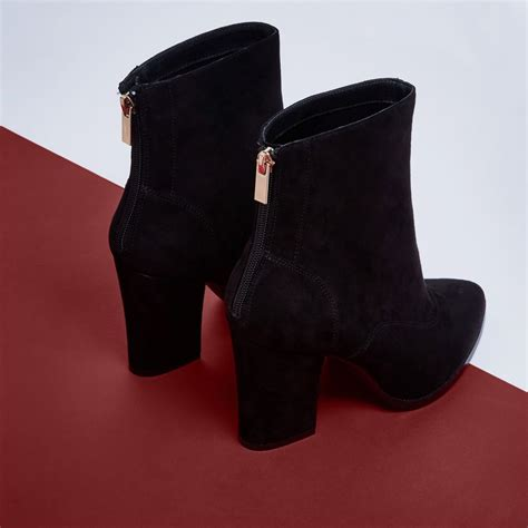 black pointed toe block heel ankle boots boots shoes