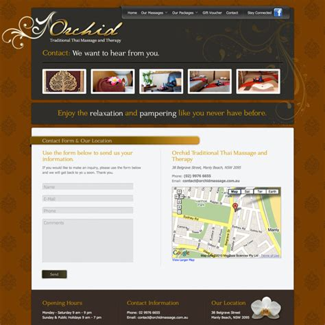Fab Site Daszigncom by Website Design For Orchid Thai And Therapy Gt Fab