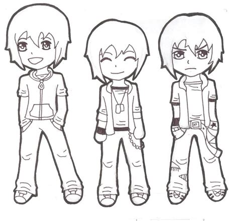 How To Draw Chibi Boy Clothes Free Chibi Boys By Darkmoon 13 On Deviantart by How To Draw Chibi Boy Clothes Free