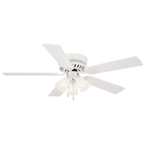 white hugger ceiling fan monte carlo traverse 52 in white ceiling fan 5tv52whd