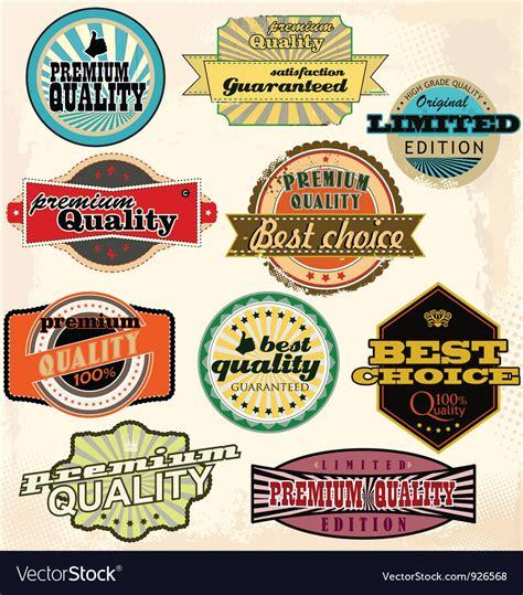 Best Quality Syari Vintage vintage labels collection best quality vector image