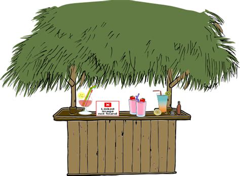 Tiki Hut Clipart tiki bar with drinks clip at clker vector clip royalty free domain