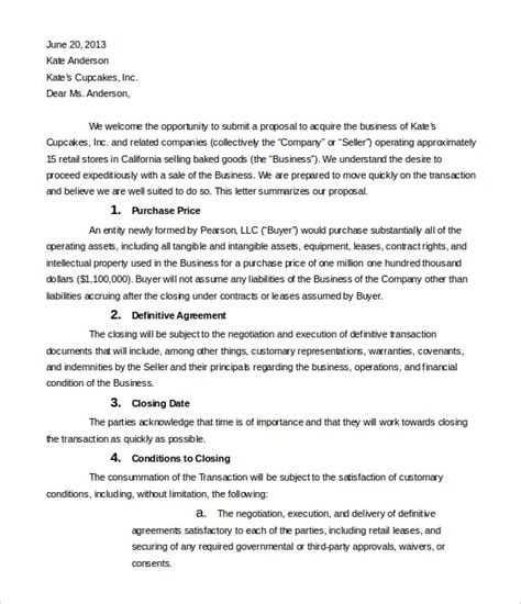 Letter Of Intent Business Model 10 Business Letter Of Intent Templates Free Sle