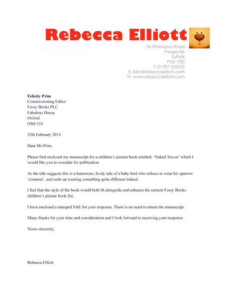 cover letter publishing book manuscript cover letter
