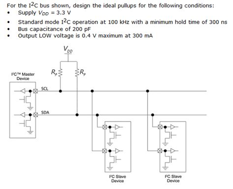 pull up resistor calculations pullup i2c ideal pull up resistor calculation electrical engineering stack exchange