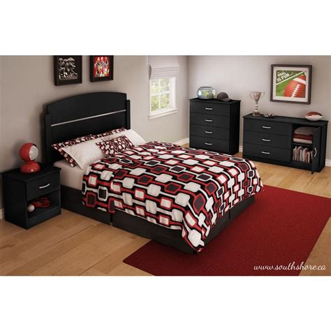 libra 4 drawer dresser in pure black finish home furniture bedroom furniture dressers south shore libra 4 drawer pure black chest 3070034 the