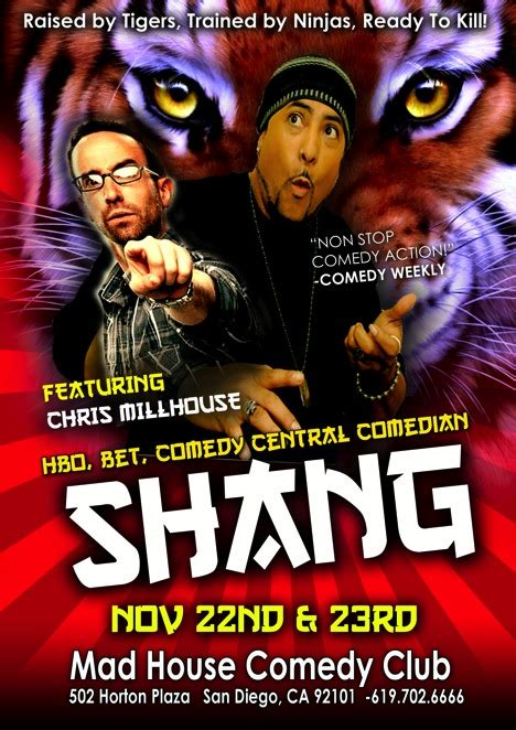 mad house comedy club shang as seen on hbos def comedy jam the late late show with craig ferguson bets comic