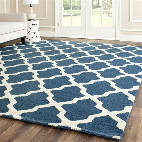 navy blue rug safavieh cambridge navy blue ivory 9 ft x 12 ft area rug