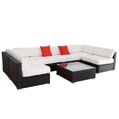 Outdoor Wicker Sectional Sofa Convenience Boutique Outdoor Furniture Set Patio Pe Wicker Rattan Sofa Patio Sectional 7 Pieces