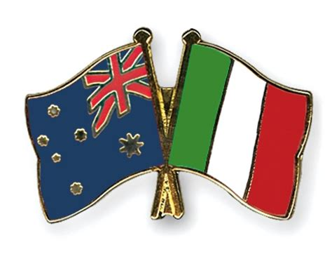 crossed flag pins australia italy flags