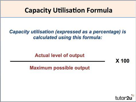 design capacity meaning capacity utilisation tutor2u business