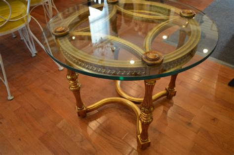 Top End Upholstery by Glass Top End Table