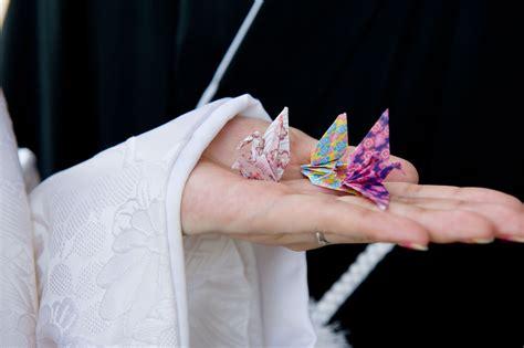 Wedding Origami Cranes - japanese unity ceremony folding 1 000 wedding paper cranes