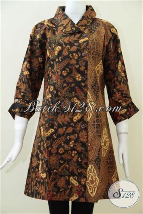 Baju Batik Elegan baju blus batik desain modern dengan dua motif klasik mewah nan elegan busana batik formal