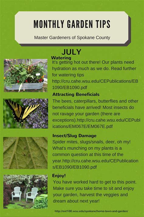 monthly gardening tips spokane county washington state