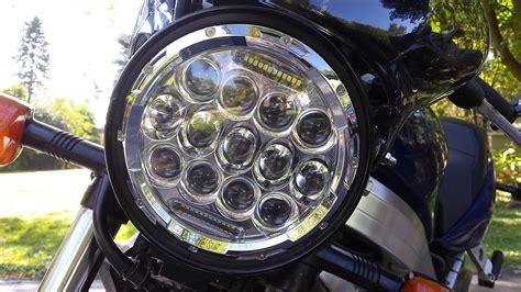Motorrad Doppelscheinwerfer by Retrofitting A 7 Inch Round Led Motorcycle Headlight