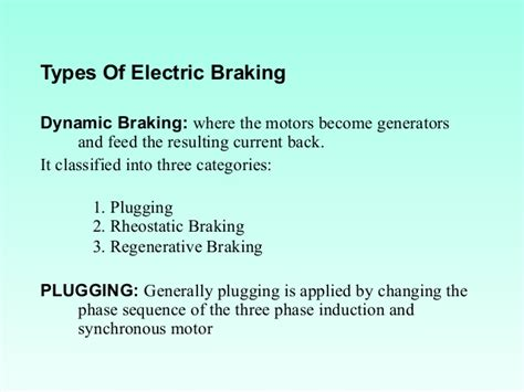 how does dynamic braking resistor work electric traction