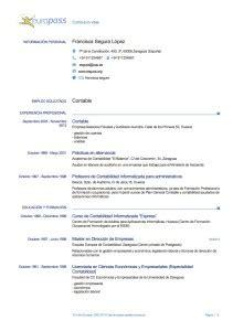 Plantilla De Curriculum Vitae Para Rellenar En Ingles Plantilla Cv Europass En Franc 233 S Cv Europass Curr 237 Culum Europeo Hacer Curriculum