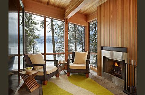 modern cabin interior lake wenatchee cabin modern family room seattle by theresa benny interior design