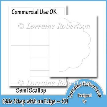 Scalloped Edge Large With Point Card Template by Side Step With An Edge Template Semi Scallop 163 1 80