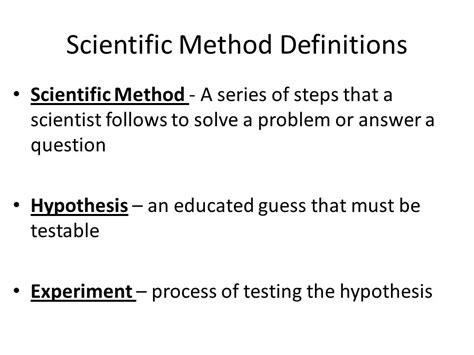 design definition science experimental design scientific method definition