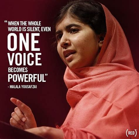 Quot When The Whole World Is Silent Even One Voice Becomes