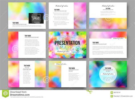 imagenes creativas web set of 9 templates for presentation slides colorful