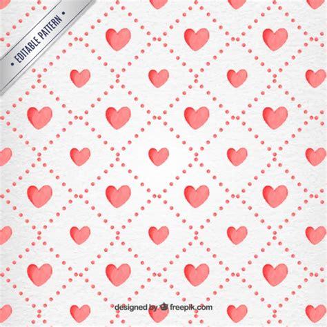 valentine pattern vector valentine day watercolor hearts pattern vector premium