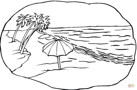 coloring pages beach beach scene coloring page free printable coloring pages