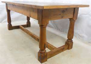 Antique Dining Table Styles Antique Style Heavy Pine Refectory Dining Table