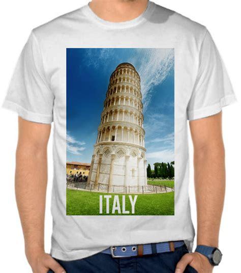 Kaos Menara Pisa Tuscany Itali jual kaos italy overlay eropa satubaju