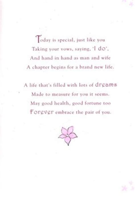 wedding poems for cards poetry in motion wedding day card cards kates