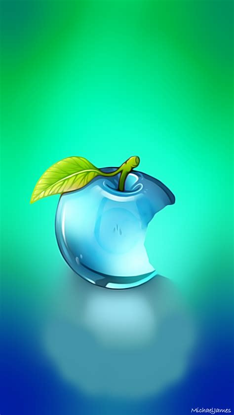 blue glass apple apple iphone  hd wallpapers