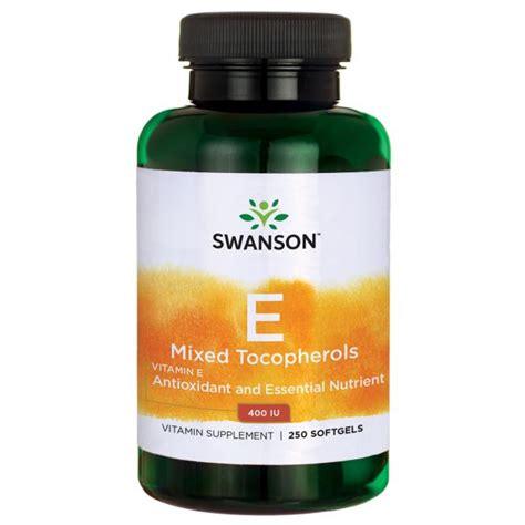 Nutracare Vitamin E Mixed Tocopherols 400 Iu vitamin e mixed tocopherols 400 iu supplement swanson