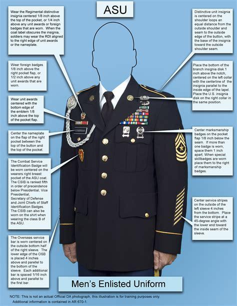 army dress blue uniform guide measurements army asu army asu uniform guide poster