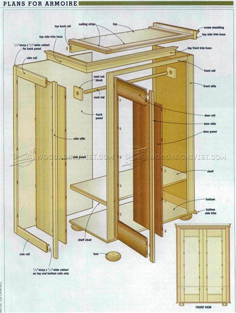 Armoire Furniture Plans 28 Images Computer Armoire Computer Armoire Plans