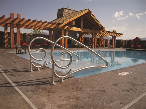 Pool Handrail Installation Custom Rails Spectrum Products