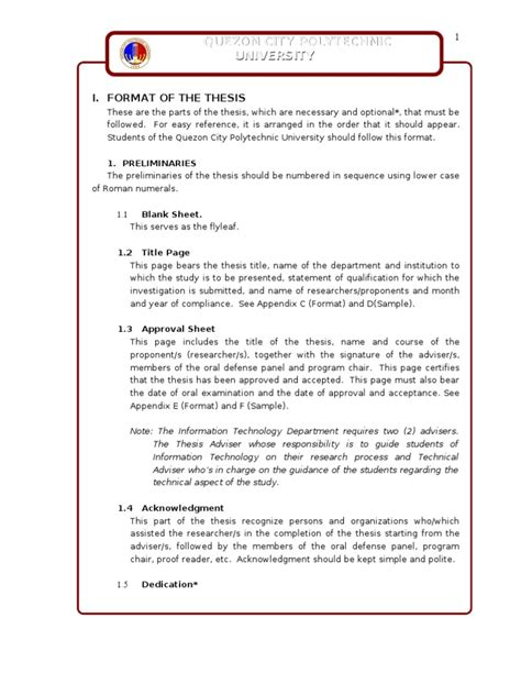 undergraduate dissertation exles pdf guidelines for undergraduate thesis format appendices