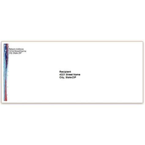 envelope address printing template 10 patriotic templates for ms word for july 4th
