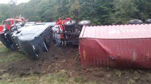 section 85 rollover update rig rollover closes part of i 81 in susquehanna