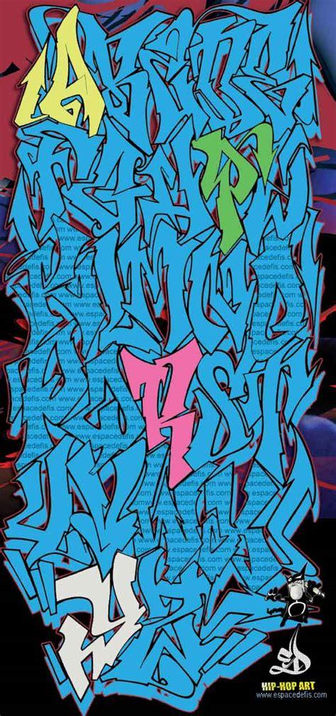 wild colorz graffiti alphabet