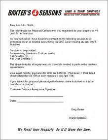 lawn care contract template free lawn care contract forms